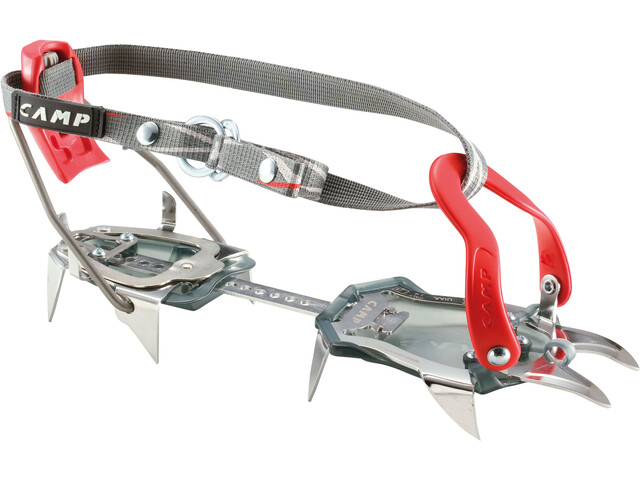 Camp Tour Nanotech - Crampons - Semi Automatic rouge/noir